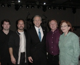 Joey, Angela & Band w George W Bush (impersonator)