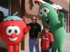 Joey and Derek with Bob and Larry from VeggieTales